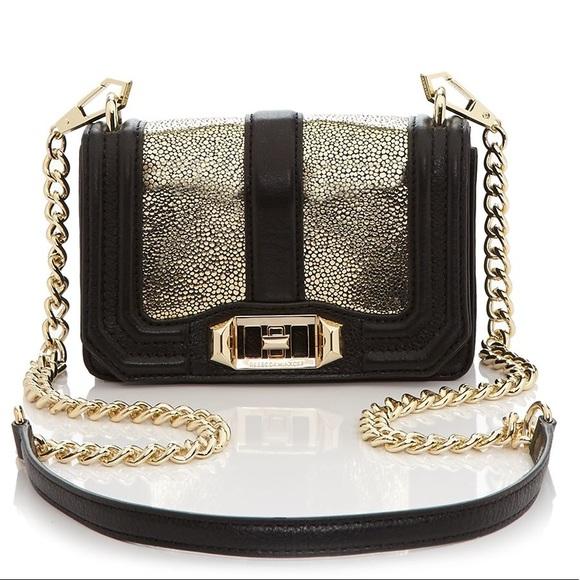 Rebecca Minkoff Handbags - Rebecca minkoff gold glitter crossbody